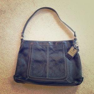 Sophia Caperelli Black Leather Handbag
